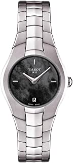 Tissot Women's T-Round's Black&Silver Dial Color Steel Strap Watch - T096.009.11.121.00