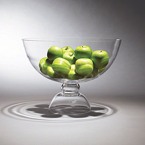 """XL Oversize 18"""" Footed Glass Bowl 