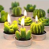 Safe 12st Candle Kaktus Kerze Dekoration Kerze Artificial Sukkulenten Kerze Smokeless Aromatherapie Handwerk Kerze Creativ (Color : 6PCS B)