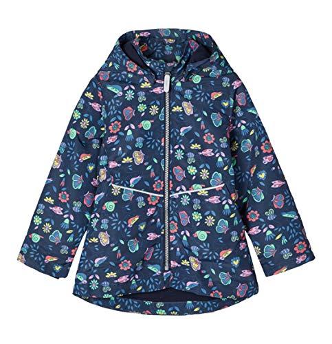 Name It Anorak avec Capuche Motif Floral Veste bébé vêtements bébé, Marine/Multicolore