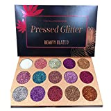 Beauty Glazed Paleta De Sombras De Ojos Profesionales - Paleta Maquillaje - Altamente Pigmentados 15 Colores Brillantes y Gitter