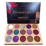 Beauty Glazed Palette di Ombretti Glitter,15 Colori Shimmer Ultra Pigmentato Trucco Ombretto In Polvere Impermeabile a lunga Durata
