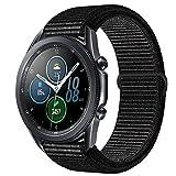 Morsey 22mm Soft Nylon Watch Bands Compatible for Samsung Galaxy Watch 46mm/Samsung Galaxy Watch 3 45mm/Gear S3 Frontier/Classic, Sport Strap Wristband Replacement Bracelet for Women Men (black)