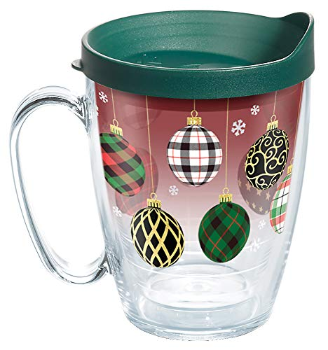 Tervis Christmas Holiday Ornaments Insulated Tumbler, 16oz Mug, Clear - Tritan