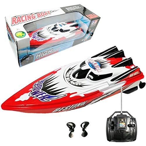 knowledgi Ferngesteuertes Boot Mini RC Boot 30 km/h RC High Speed 4 Channel Rennboot Sommer Wasser Spielzeug für Kinder