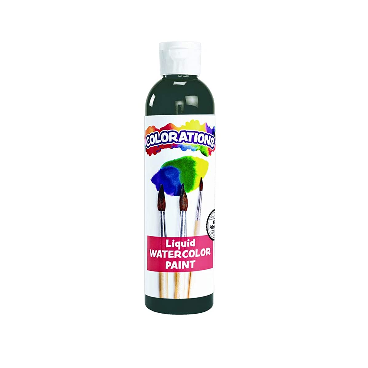 Colorations Liquid Watercolor Paint For Kids Black Arts and Crafts Material (8 oz) (Packaging may vary)