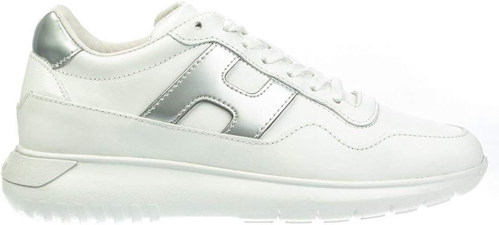 Hogan sneakers casual per donna  in pelle con inserti metallizzati e h laterale HXW3710AP20LLJ048K