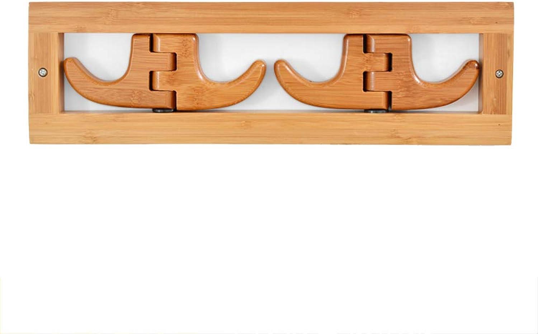 Chunlan Coat rack Solid Wood Wall-Mounted Foldable Clothes Hook Coat Rack (Size   37  11cm2cm)