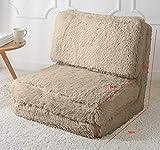 Urban Shop Long Hair Convertible Flip Chair, Adult, Taupe