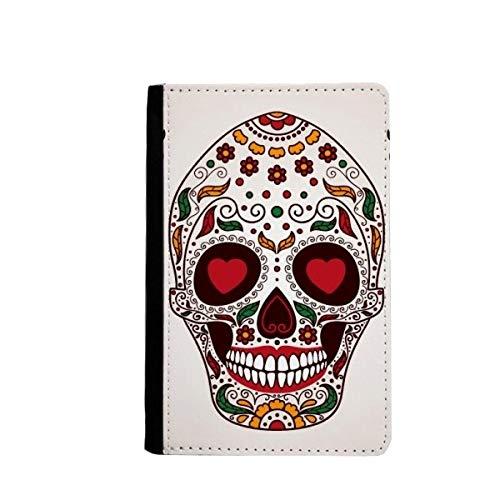 beatChong Blume Cirrus Eyes White Sugar Skull-Pass-Halter Travel Wallet Abdeckungs-Fall Karten-Geldbeutel