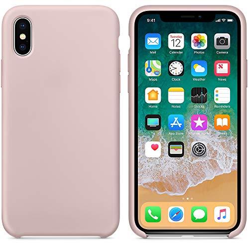 AW 2018 Estate Ultima Custodia in Silicone per iPhoneX (iPhone X, Rosa Sabbia)