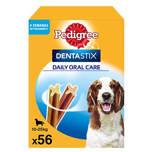 Pedigree Dentastix Snack Dental para la Higiene Oral de Perros Medianos (1 Pack de 56ud) ✅