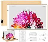 Tablet 10 Pulgadas FACETEL Q3 Android 9.0 4GB de RAM y 64 GB de ROM,5MP+8MP Cámara Tablet PC Batería de 8000mAh,Certificación Google gsm,WiFi,GPS,OTG,FM,Bluetooth-Oro