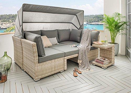 Destiny Lounge Loungegruppe Aruba Sitzgruppe Sofaset Faltdach Polyrattan - 6