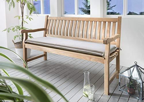 Bankpolster Destiny 130 cm * Sand * Kissen Auflage für Gartenbank Bank Polster Neu