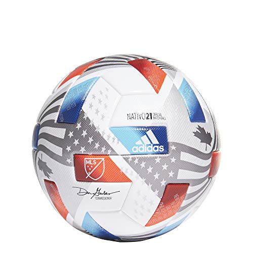 adidas MLS Pro Ball - White-Blue-Red 5