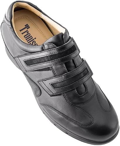 Masaltos zapatos de Hombre con Alzas Que Aumentan Altura Hasta 7 cm. Fabricados EN Piel. Modelo Belcro