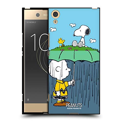 Head Hülle Designs Offizielle Peanuts Charlie, Snoppy und Woodstock Halbzeiten Und Gelächter Schwarze Soft Gel Handyhülle Hülle Huelle kompatibel mit Sony Xperia XA1 Ultra/Dual