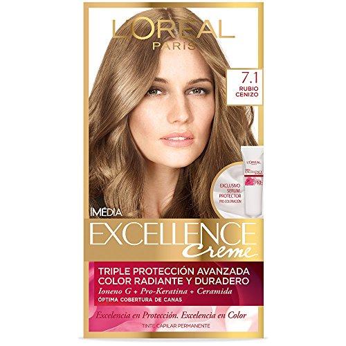 Tinte para cabello Excellence L'Oréal Paris 7.1 Rubio Cenizo