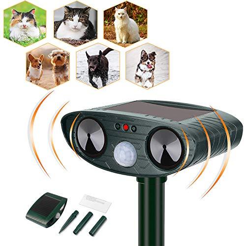 Cat Repellent, Cat Repellent Ultrasonic, Solar Powered Waterproof Cat...