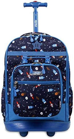 J WORLD NEW YORK Kids Duo Rolling Backpack with Lunch Box Set SPACESHIP One size product image
