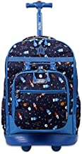 J WORLD NEW YORK Kids' Duo Rolling Backpack with Lunch Box Set, SPACESHIP, One size
