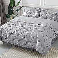 Bedsure Comforter Set Bed in A Bag Pintuck 8 Pieces