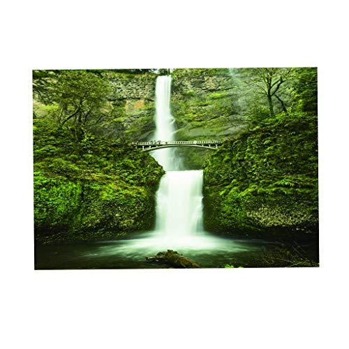 FLAMEER Aquarium Hintergrund PVC Erde Stern Aufkleber Tapete Dekoration Aquarium Vivarium, 6 Größe - Wasserfall, 61 x 41 cm