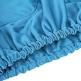 Fundas para sillón dental, azul repetible, funda para sillón dental azul claro, M, L para sillón dental Juego de fundas protectoras para muebles para el departamento dental(M, Light blue)