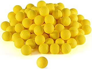 Ray Squad 150 Rounds | Ammo Bulk Yellow Foam Bullet Ball with/Replacement Refill Pack Compatible with Rival Nerf Apollo, Zues, Khaos, Atlas, & Artemis Blasters (HIR,High-Impact Rounds - Yellow)