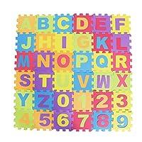 36本セット 子供用練習マット アルファベット&ナンバー フォームパズル プレイマット 遊びマット