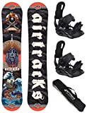 AIRTRACKS/MR. Yash Snowboard Flat Rocker + Fijaciones Star o...