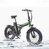 TypeBuilt Faltbares Elektrofahrrad Elektrisches Fahrrad 20 Zoll Elektrisches Fahrrad, Faltendes Elektrisches Fahrrad, Fetter Reifen Ebike, 48V 15AH,500W,Schwarz