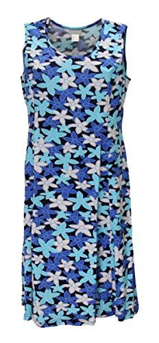 Sommerkleid Kleid Hauskleid Gartenkleid Strandkleid Jersey, Größe:50, Design:Design 2