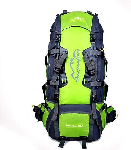 Sac à Dos d'alpiniste 80L Multi-Function Alpinisme Sac Femme Sports De Plein Air Sac à Dos Homme Voyage Sac à Dos Sac à Dos Camping Monter Imperméable Résistant à l'usure Grande Capacité, Vert