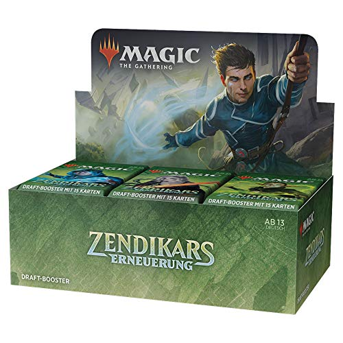 Magic: The Gathering Zendikars Erneuerung, Draft-Booster-Display (36 Boosterpackungen plus 1 Box-Topper) - Deutsche Version