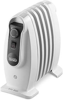 Delonghi TRNS 0505M - Radiador de aceite, 500 w, termostato seguridad, ajustes termostato, asas, blanco