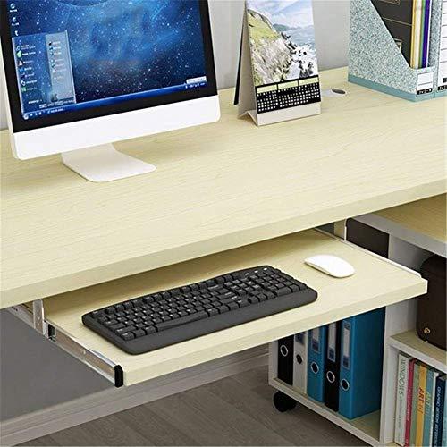 HYLX Escritorio para computadora Debajo del Escritorio Bandeja para Teclado, cajones y Plataformas para Teclado Mute Track Bandeja para Teclado de diseño ergonómico para escritorios hasta cajones