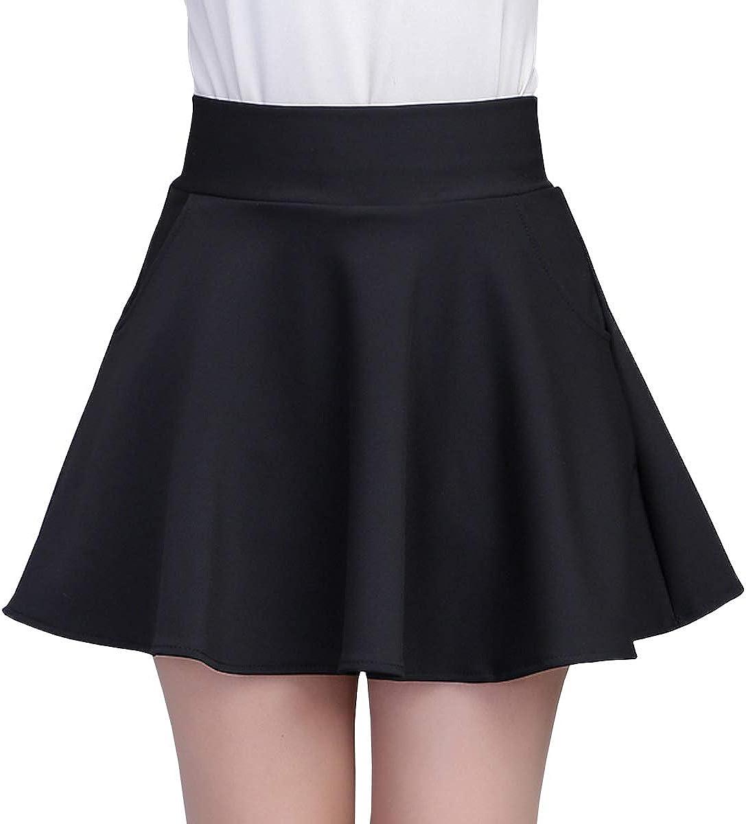 DISSA CA920 Women Pleated Mini A-Line Skirt