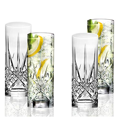 Godinger Highball Collins Glasses, Dublin Collection, Set of 4