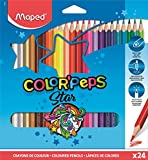 Color Peps 183224ZV Maped - estuche de 24 lápices de colores triangulares colorpeps. mina blanda y resistente.