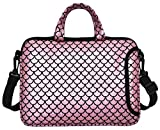"10.5-Inch Laptop Ipad Shoulder Carrying Bag Case Sleeve for 9.6"" 9.7' 10' 10.1' 10.5' Ipad/Netbook/Tablet/Reader, Mermaid Scale (Pink)"