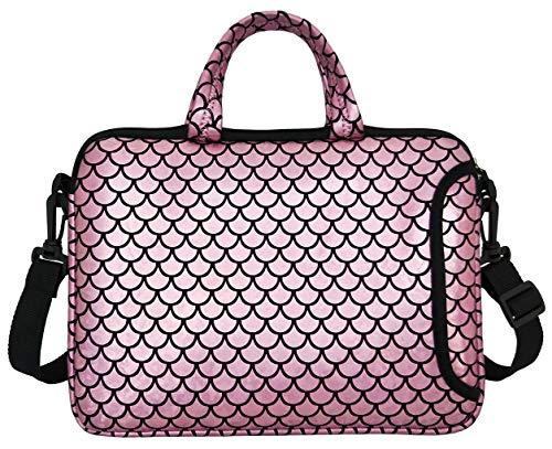 "10.5-Inch Laptop Ipad Shoulder Carrying Bag Case Sleeve for 9.6"" 9.7' 10' 10.1' 10.5' Ipad/Netbook/Tablet/Reader, Mermaid Scale (Pink)"