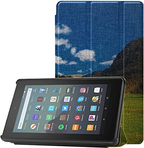 Cubierta Funda para Tableta Kindle 7 The Beautiful Alps At Sunset Funda para una Tableta Kindle para Fire 7 (novena generación, versión 2019) Ligera con suspensión/activación automática