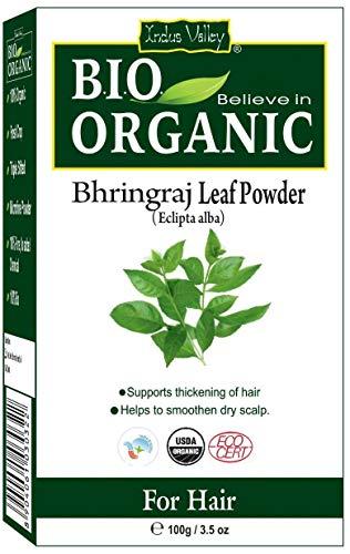 Polvo orgánico puro certificado Bhringraj con libro de recetas gratis de 100 g (Bhringraj Leaf Powder)