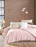 BOHORIA® Premium Tagesdecke The Urban Loft | 100prozent Baumwolle | Oeko-Tex® | Bettüberwurf Wohndecke Wendedecke Sofadecke mit Muster | extra-groß 220 x 240 cm (Bloom Rose)