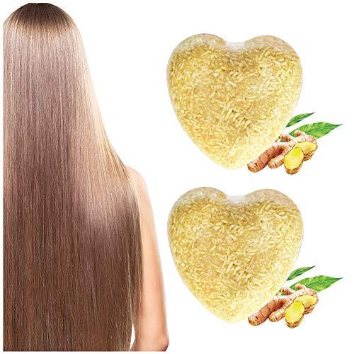 Haar Shampoo Bar, Reise Haarpflege, Festes Shampoo, 2pcs Anti Schuppen und Öl-Kontrolle, Natürliches Organisches Pflanzliches Ginger Festes Seifenhaar, für trockenes und geschädigtes Haar