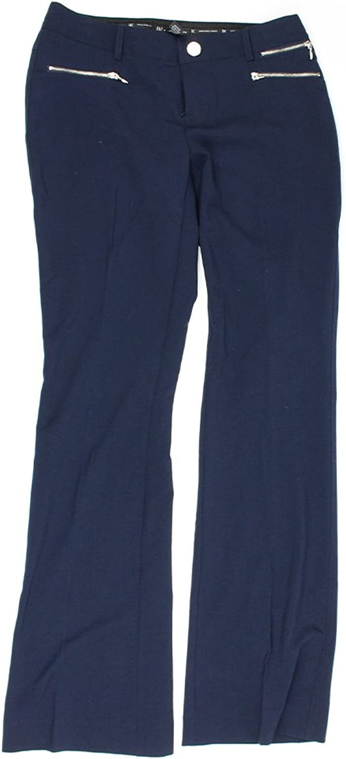 Inc International Concepts Midnight ZipPockets Boot Leg Pants 0