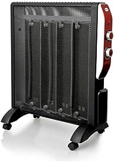 eldom HM1300 Calefactor Radiador Eléctrico Bajo Consumo con Panel de Mica hasta 2000 W Color Negro con Ruedas y Termostato