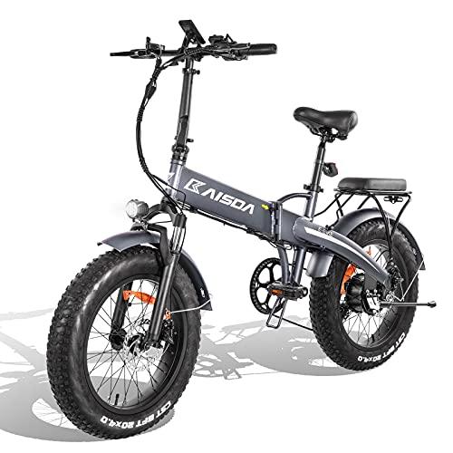 KAISDA E-Bike Elektrofahrrad, 20x4 Zoll Fat Reifen Faltbar Tragbares Ebike für Herren und Damen, E Mountainbike Klapprad Pedelec Fahrrad mit 500W Motor und Abnehmbarer 48V 10Ah Akku, Shimano 7-Gang